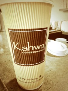 Kahwa coffee, cafe mocha, downtown st. pete